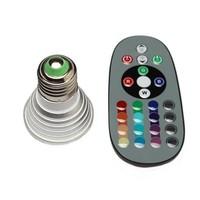 Wholesale - 1set 3W E27 Farbwechsel RGB LED Licht Lampe Birne 110-220V IR Fernbedienung with memory 80186