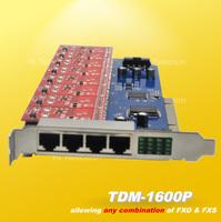 NEW 16 port FXS/FXO analog Asterisk PCI card TDM1600P asterisk ip pbx