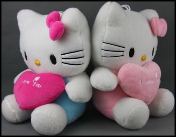 free ship Lovers hello kitty cat kt cat doll lovers cat birthday gift