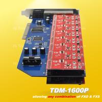 NEW Free drivers TDM1600P asterisk PCI card 16 port fxo fxs for voip elastix trixbox ip pbx