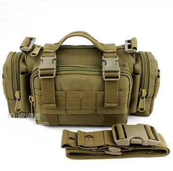 Multi-purpose Camouflage outdoor waist pack chest pack canvas 3p magic waist pack sports messenger bag man bag