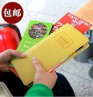 Holidays sales ! Long design passport holder multifunctional travel storage bag fashion ticket folder