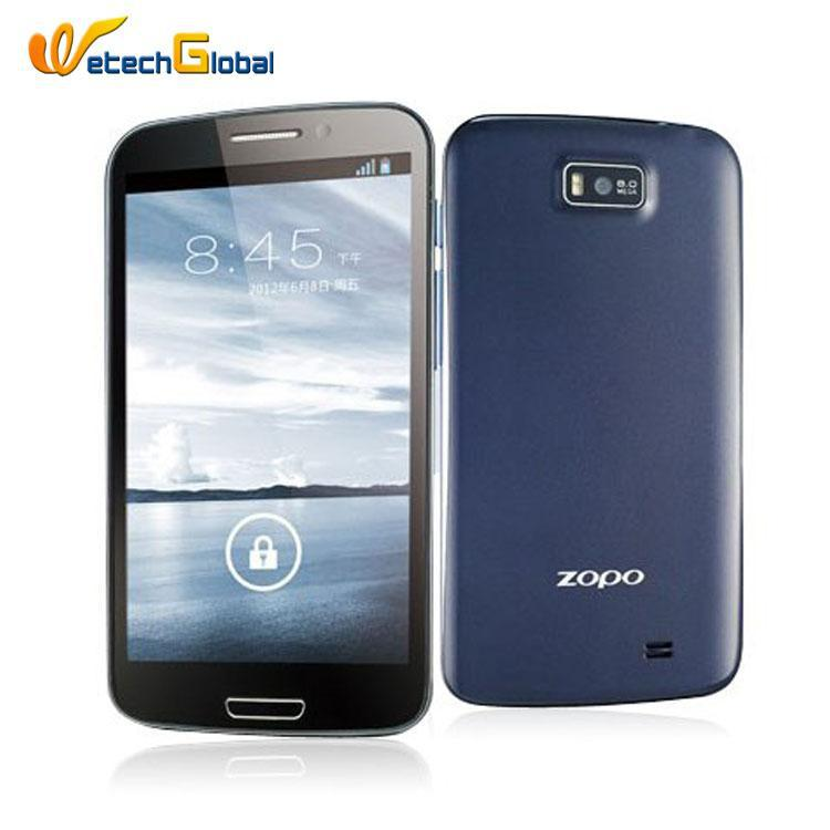 Zopo ZP900s Leather MTK6577 Dual Core Phone 5.3 inch IPS s creen Android 4.0 ROM 4G 3G WCDMA GPS Free Shipping