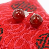 Wholesale 100% Pure 925 Sterling Silver red agate stud earrings fine jewelry WYA009