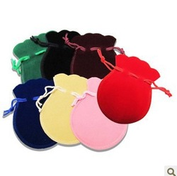 Free Shiping ! velvet 200pcs/Lot 7 Colors 7x9.5CM Drawstring Pouches Jewellery Gift bags Fabric cloth sack(China (Mainland))