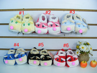 free shipping 2 pairs/lot keep warm floor shoes  baby first walkerscartoon infant shoes baby gift