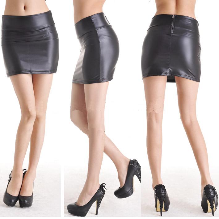 tight black leather mini skirt wallpaper