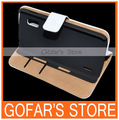 White/Black Wallet Book Stand Leather Case for LG Nexus 4 E960