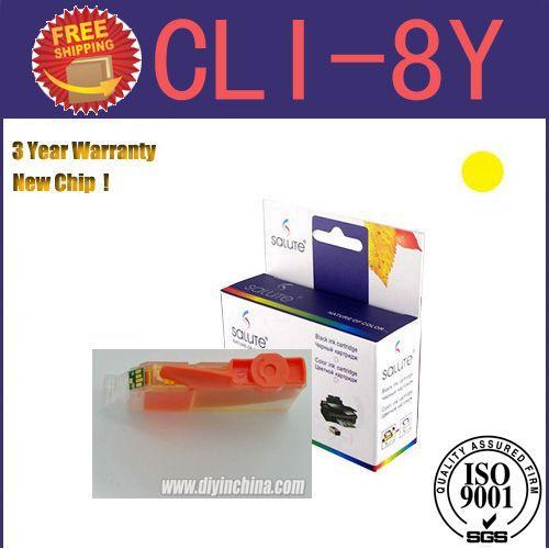 Картридж с чернилами Salute CLI/8 Canon PIXMA IP3300/IP4200/IP4500/Pro9000 4 CLI-8Y for Pixma Pro9000 картридж t2 ic ccli 8y для canon pixma ip4200 4300 5200 pro9000 mp500 600 yellow с чипом
