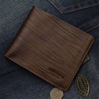 Guaranteed Money Clip 2013 Hot Selling Short  Male Wallet Genuine Leather Embossed Men Wallets Fashion Coin Purse+Free Shipping