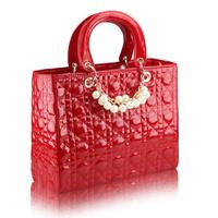 Discount !! 2014  new coming  women's handbag plaid fashion bridal bag  marry shoulder bag PU leather
