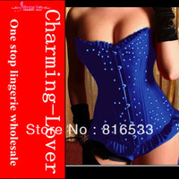 Rinestone elegant corset dress for women HOT sell 3 color fashion corsets dance tops over bust corset lingerie free shipping