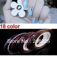 180 Color Rolls Striping Tape Line Tips Nail Art Decoration Sticker DIY Design