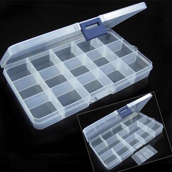 Retail 15 case transparent jewelry box kit multi-functional travel storage box  (ZM)