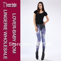 Flashing Lightning Skinny Seamless Ladies's Legging Blue High Quality Cheap Price Drop Shipping L8710