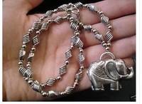 beautiful Tibetan Silver Elephant Pendant Necklace