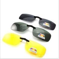 wholesale Polarized Night Vision Clip On Flip Up Driving Lens Glasses Sunglasses
