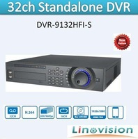 Linovision The Newest and First 1080P Realtime Preview 32CH Full D1 Recording 2U Standalone DVR, DVR-9132HFI-S