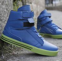 2014 new Men's fashion high top TK Justin Bieber shoes blue black white autumn winter Sneakers