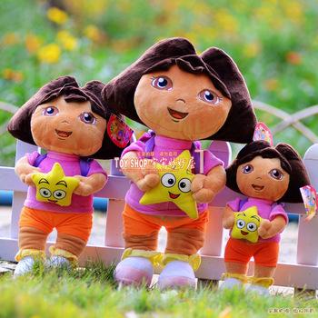 Free shipping children Dora plush toy doll ultralarge doll baby birthday gift Stuffed Toys 35cm