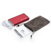 Free shipping,High Quality Mobile power bank External Battery Charger 6000mAh for iPad iPhone.General model power bank.
