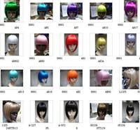 new 15 green blue blonde brown black red yellow orange long STRAIGHT full wig