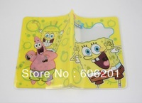 "Spongebob Squarepant  Cute Yellow  Passport Card Holder, Cartoon Travel Case Cover (5..3"" X 3.7"")--Free Shipping"