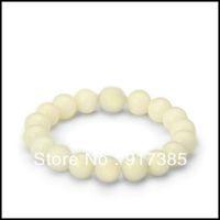 1X SHB1314 Gift Box+10mm Mens 18 pcs White Jade Mala Power Bead Stretch Bracelet Fashion Shamballa Jewelry Mini Order $15