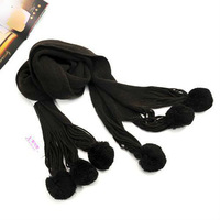 Fashionable Wool 6 Balls Long Yarn Scarf Bandelet Neckerchief Shawl-Coffee 1pc