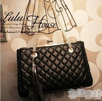 NEW retro package chain Korean version  new Europe and the United States trend of female ladies handbags tassels Lingge Bags