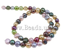 Free shipping!!!Baroque Cultured Freshwater Pearl Beads,Tibetan Jewelry, mixed colors, 8.5-9mm, Hole:Approx 1mm