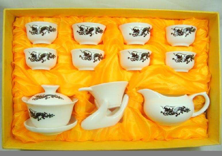 Ceramic China kungfu tea sets 14 chameleon chameleon Oolong ER Dahongpao Phoenix Dancong tea free shipping