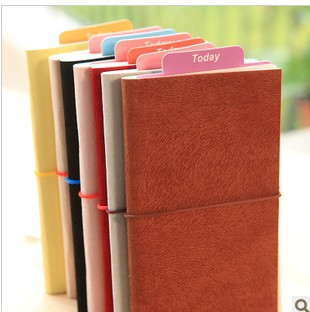 Th South Korea of stationery creative small and pure and fresh deerskin bind belt notepad laptop notebook(China (Mainland))