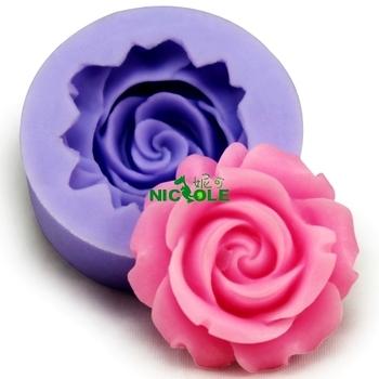 DIA2.9*1.0cm DIY fashion flower shape designer cake soap decorating moulding silicone chocolate cake mold / candle mold