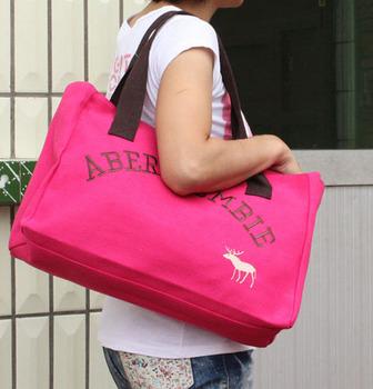 Candy color stunning canvas bag handbag one shoulder casual women's handbag box big bag fashion bags