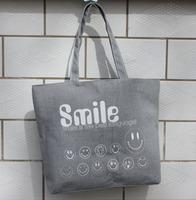 Smiley women's handbag canvas casual bag bag