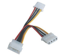 F04530 NEW IDE Molex to 2 Serial ATA SATA Y Splitter 4Pin Hard Drive Power Cable + Free shipping