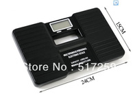 Free shipping High Quality Black Portable Digital Bathroom Body Weight Scale 150KG 100g 1PC #EC017