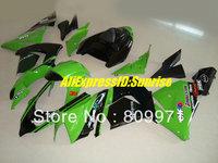 K285 Hi-grade green black  full  Fairing for KAWASAKI Ninja ZX10R 04 05 ZX-10R 2004-2005 ZX 10R  04 05 2004 2005