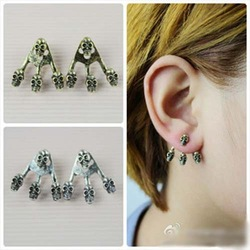 Beautiful Fashion Retro Multiple Skull Stud Earring High Quality(China (Mainland))