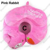 Infant Car Booster Seat Travel Neck Saver Necksaver Protector Head Support Cartoon Animal Pillow--Pink Rabbit
