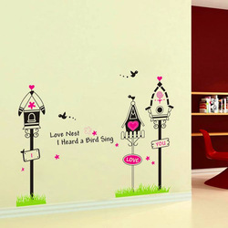 Free shipping Children room cartoon street light signs backdrop stickers#Y088(China (Mainland))