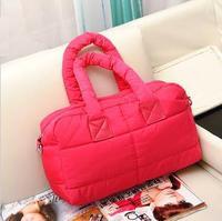 Hot Selling Kawaii Quilted Handbag/ Ladies' Clutch Shoulder Bag/ Women's Candy Handbag/ Cotton-padded Tote Bag Free Shipping