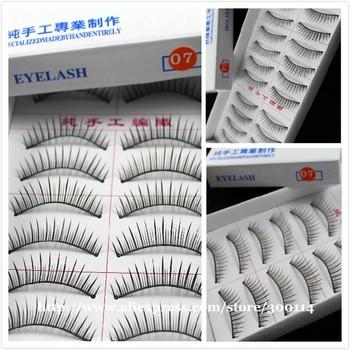 wholesale quality handmade synthetic Fake Eyelashes 07# false eye lashes makeup beauty sets 1000pairs=100boxes/lot free shipping