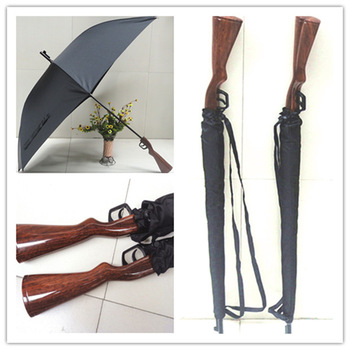 Ultralarge lengthen rifle handle umbrella belt windproof gun umbrella poleaxe rifle umbrella