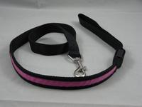 Black edge LED Flashing Dog Pet Lead Leash Rope Nylon Belt (width 2.5cm * length 120cm), 5pcs/lot
