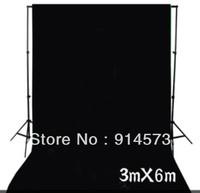 photographic equipment 3m x 6m 100% Cotton Chromakey black Screen Muslin Background Backdrop