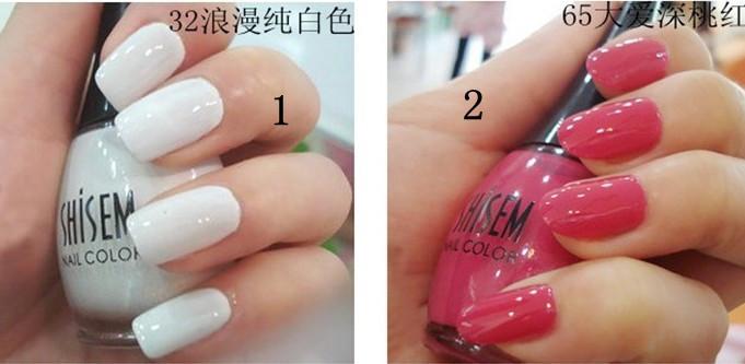 [Free shipping] Wholesale - 6Pcs/Lot 2012 New Fashion 24 Color DIY Nail Polish Glitter Make Up Nail Art Brush