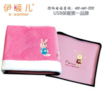 USB Cartoon Zipper Hand Warming Mouse Pad Lovely Rabbit