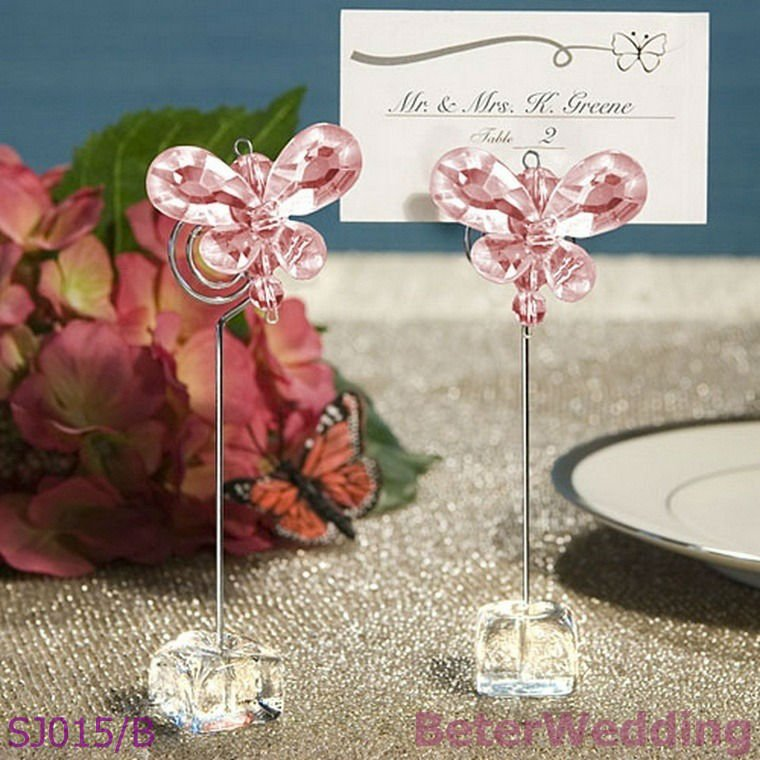 Crystal Butterfly Place Card Holders SJ015/B Wedding Anniversary party ideal gifts(China (Mainland))